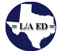 L/A Ed Logo - Man and woman in class - Call us in Roanoke, Texas, for continuing education classes for attorneys and CPAs.